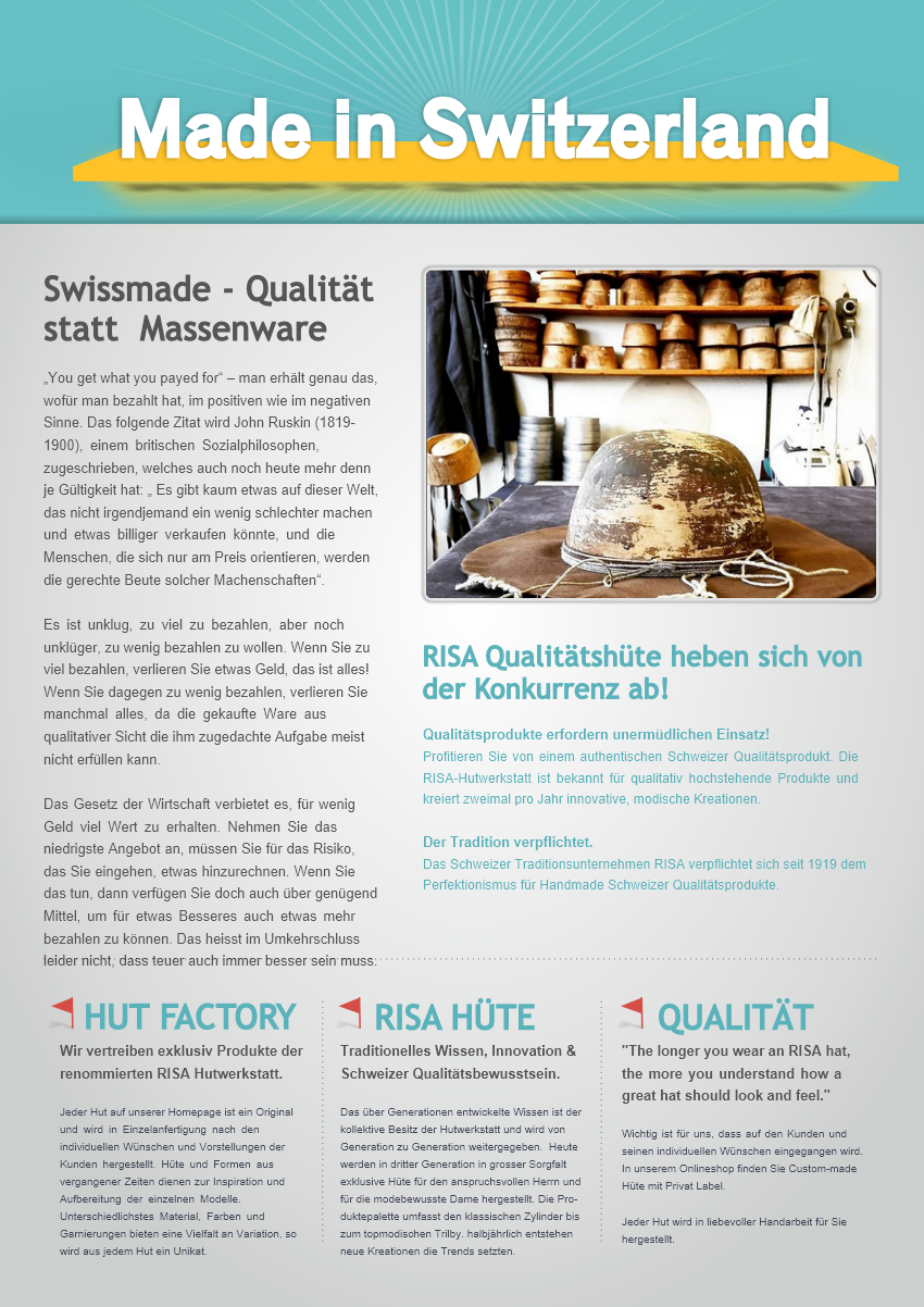 Qualitaet_statt_Massenware.Hut-Factory
