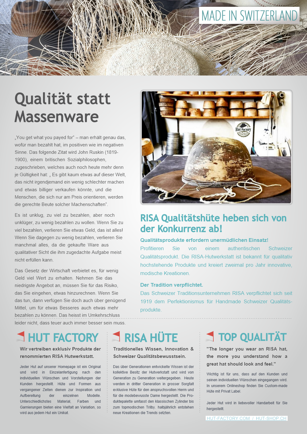 Qualitaet_statt_Massenware.Hut-Factory.2